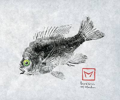 Green-eyed Bluegill Poster by Matt Monahan
