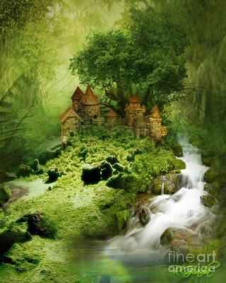 Poster featuring the digital art Green - Fantasy Art By Giada Rossi  by Giada Rossi
