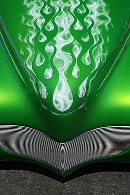 Green Flames Poster