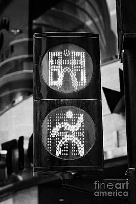 Green Go Pedestrian Crossing Traffic Lights Countdown Clock Crossing Road In Andorra La Vella Andorr Poster