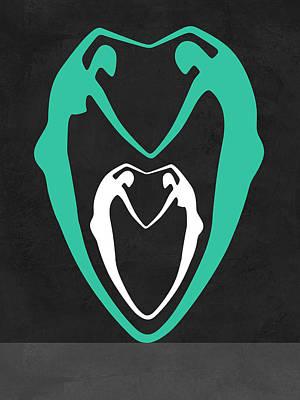 Green Heart Poster by Naxart Studio