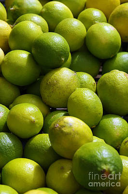 Green Limes Poster by Carlos Caetano