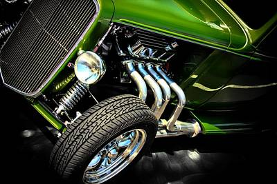 Vintage Cars Poster featuring the photograph Green Machine  by Aaron Berg