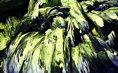 Poster featuring the digital art Green by Matt Lindley