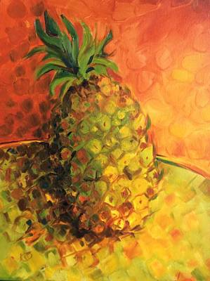 Green Orange Pineapple Poster