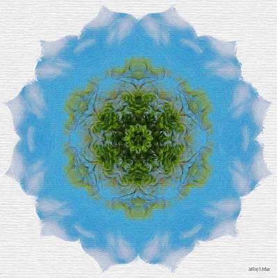 Green Planet Poster by Jeff Kolker