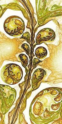 Green Plant Poster by Anastasiya Malakhova