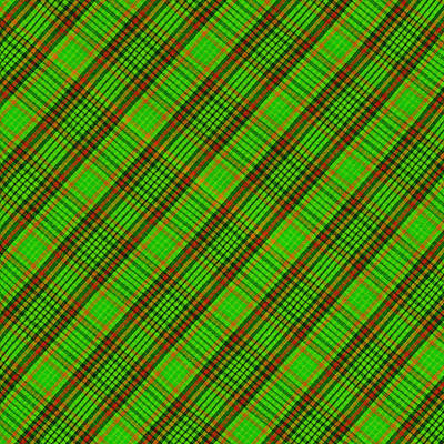 Green Red And Black Diagonal Plaid Cloth Background Poster