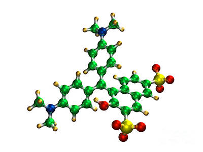 Green S Food Coloring Molecule Poster by Dr. Mark J. Winter