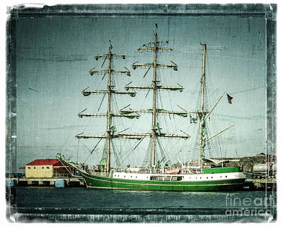 Green Sail Poster by Perry Webster