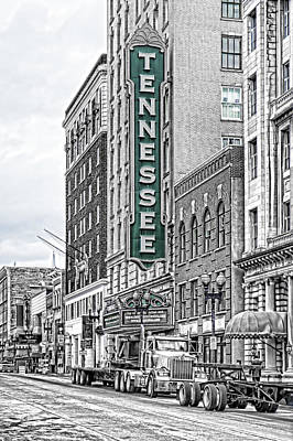 Green Tennessee Theatre Marquee Poster
