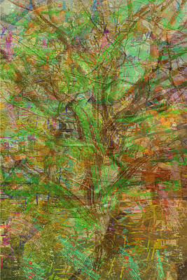green theme abstract tree leaf dense wild estate Pure abstract view carefully and find some thing ne Poster
