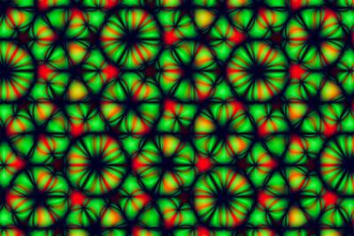 Green Torus Pattern Poster by Hakon Soreide