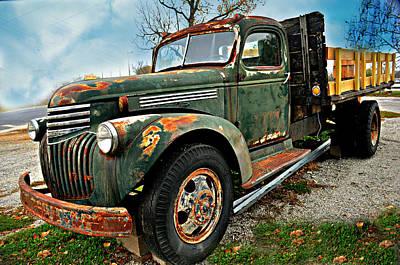 Green Truck Poster by Marty Koch