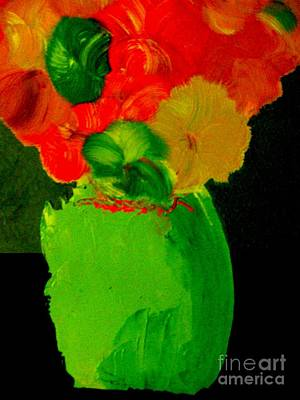 Poster featuring the painting Green Vase 22 by Bill OConnor