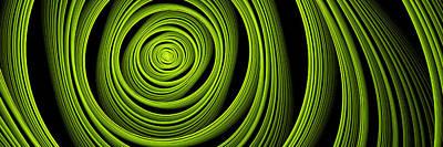 Poster featuring the digital art Green Wellness by Gabiw Art