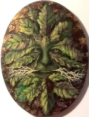 Poster featuring the painting Greenman by Megan Walsh