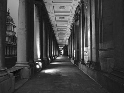 Greenwich Royal Naval College Hdr Bw Poster by David French