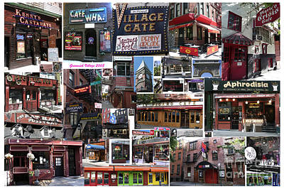 Greenwich Village Collage Poster by Steven Spak
