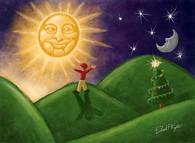 Greeting The New Sun Poster by David Kyte