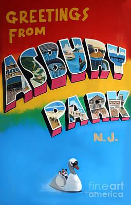 Greetings From Asbury Park Poster by Melinda Saminski