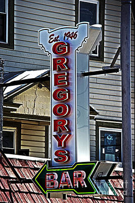 Gregorys Bar Poster