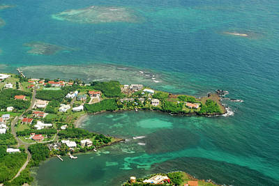 Grenada, Aerial View Of City Of St Poster