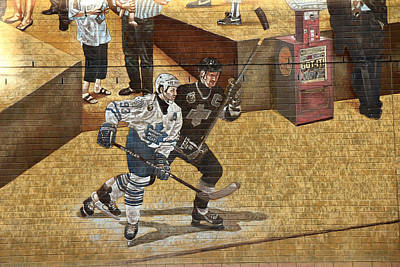 Gretzky And Gilmour 2 Poster by Andrew Fare