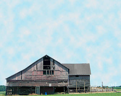 Poster featuring the photograph Grey Barn by Gena Weiser