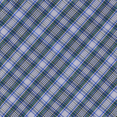 Grey Blue And Green Diagnoal Plaid Fabric Background Poster