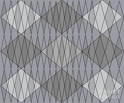 Grey Diamond Plaid Poster