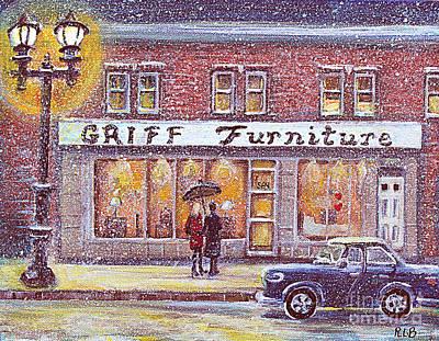 Griff Valentines' Birthday Poster by Rita Brown