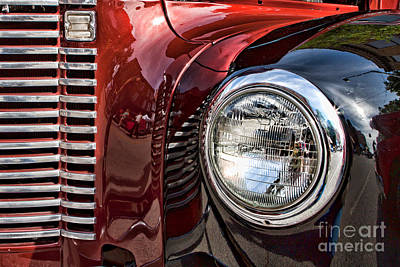 Grill And Headlamp Poster by Lawrence Burry