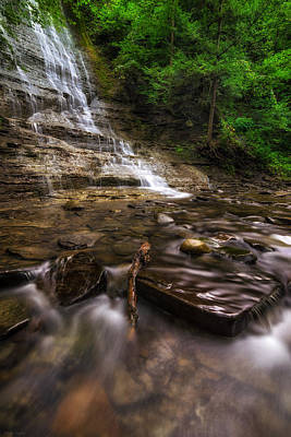 Grimes Glen First Falls Poster by Mark Papke