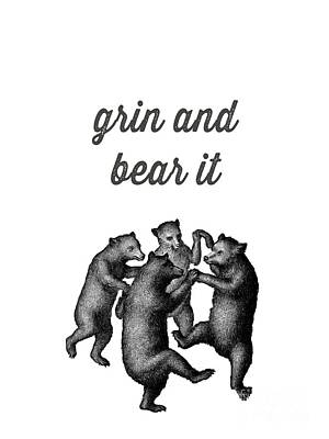 Grin And Bear It Alaska Wildlife Poster
