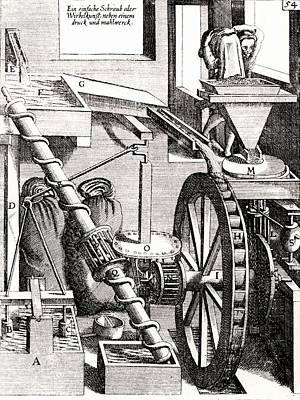 Grinding Mill Driven By Water Wheel Poster