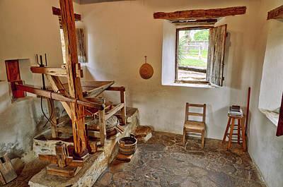 Grist Mill At Mission San Jose - San Antonio Texas Poster by Silvio Ligutti