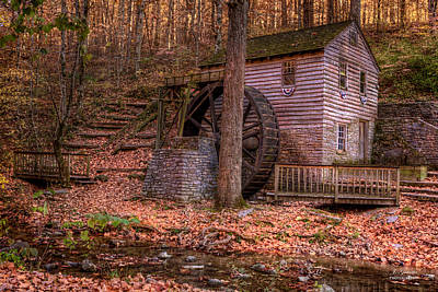 Grist Mill In Tennessee Poster