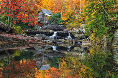 Grist Mill In The Fall Poster