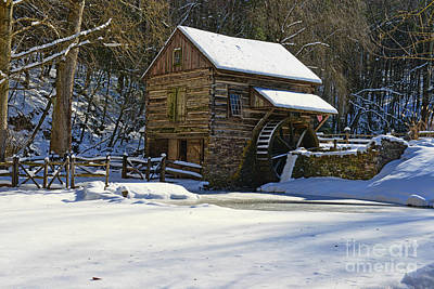 Grist Mill Winter Poster