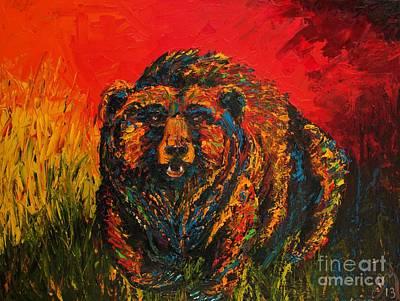 Griz Bear Poster by Jodi Monahan