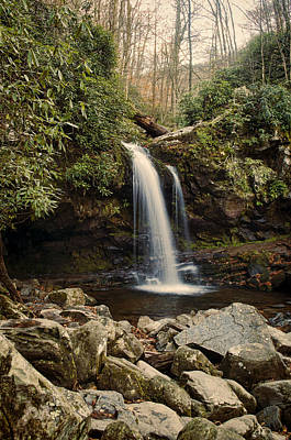 Grotto Falls  Poster by Heather Applegate