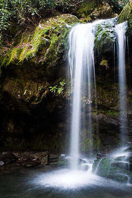Poster featuring the photograph Grotto Falls by Jay Stockhaus