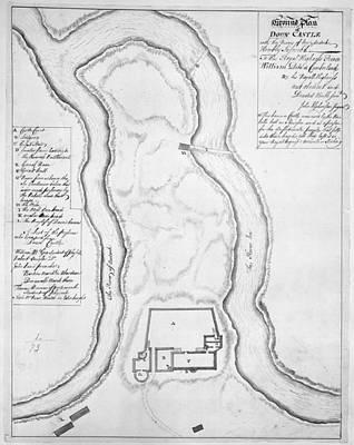 Ground Plan Of Doun Castle Poster