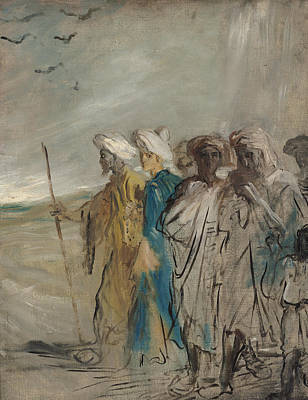 Group Of Arabs Or, Joseph Sold By His Brothers Oil On Canvas Poster