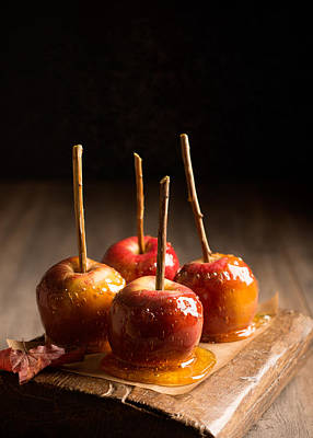 Group Of Candy Apples Poster