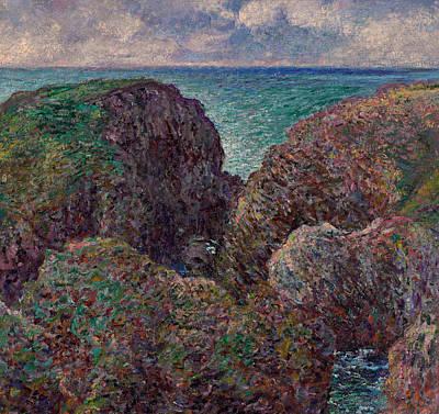 Group Of Rocks At Port Goulphar Poster