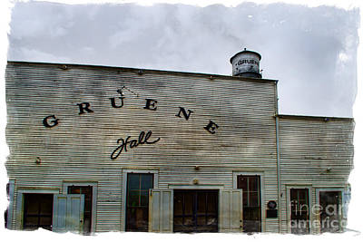 Gruene Hall Poster by Norma Warden