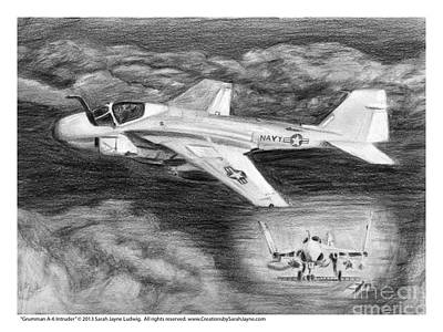 Grumman A-6 Intruder Poster by Sarah Howland-Ludwig