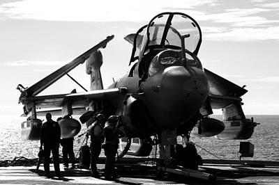 Grumman Ea-6b Prowler B-w Poster